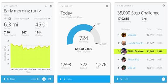 Vivofit: Application Garmin Connect Mobile