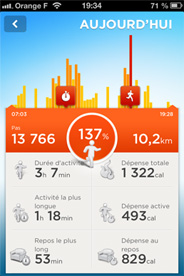 Application Jawbone UP