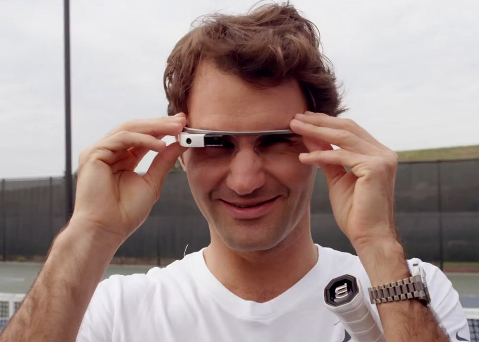 Google Glass : Federer vs. Edberg