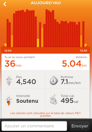 Jawbone : Course