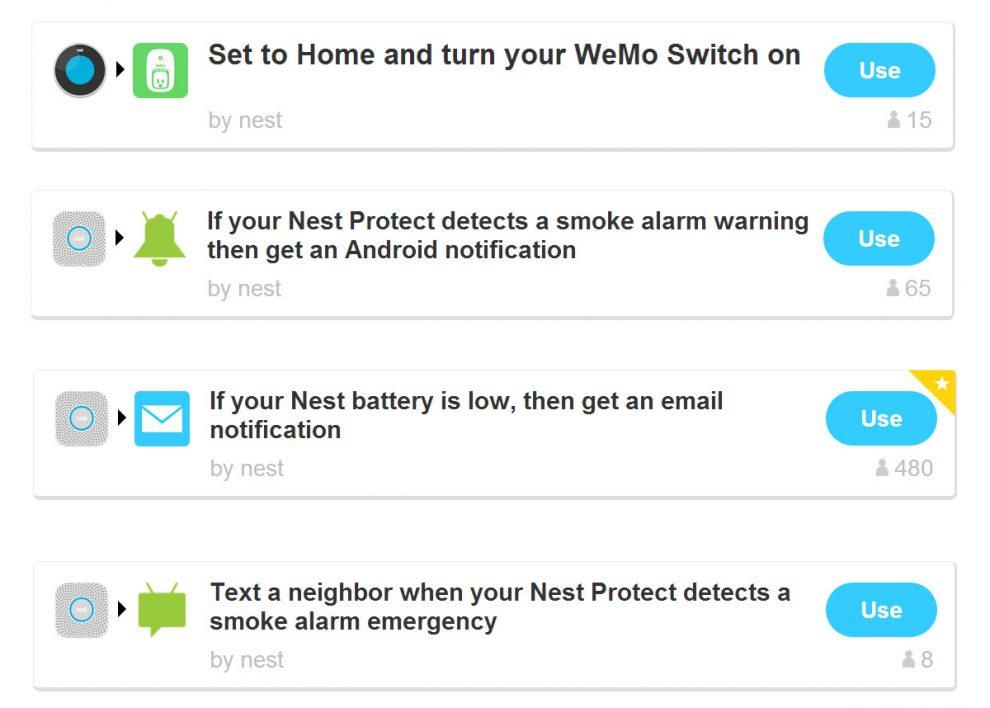 IFTTT : Les thermostats Nest disponibles