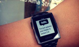 Smartwatch Pebble : mise à jour 2.2