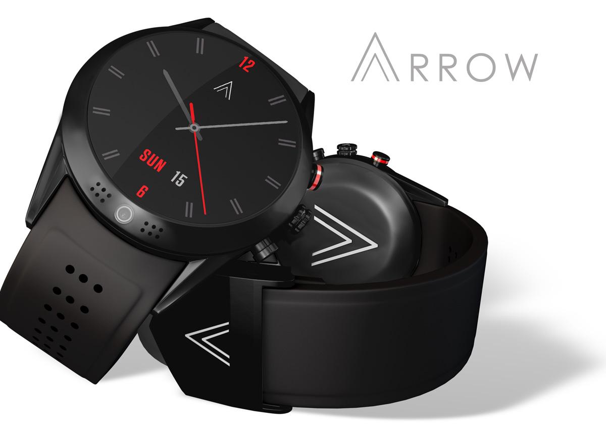 arrow une smartwatch avec cam ra hd 360. Black Bedroom Furniture Sets. Home Design Ideas