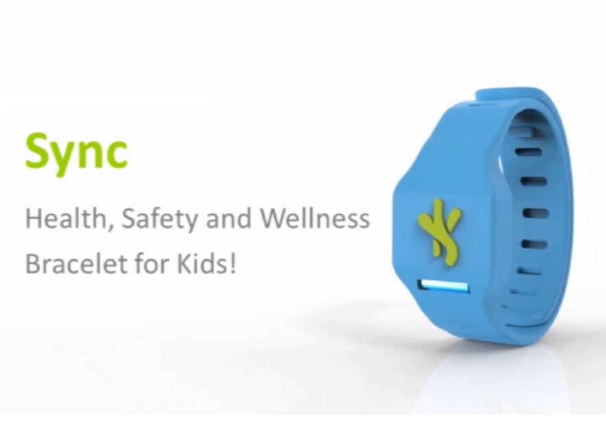 Sync, le bracelet connecté familial
