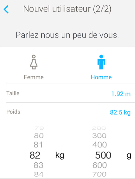 Installation de l'application Health Mate