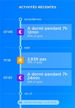 Timeline Jawbone