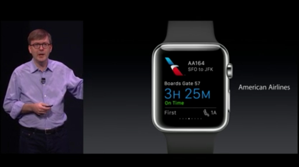 WatchKit Americain Airlines