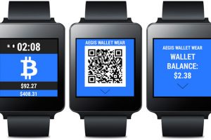 Aegis Wallet Wear : Bitcoin sur Android Wear