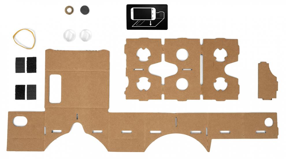 Google Cardboard liste matériaux