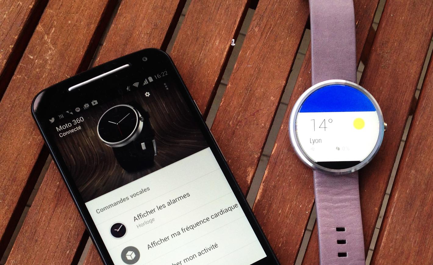 Test Moto 360 de Motorola : une montre connectée ronde
