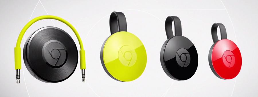 Chromecast 2 et Audio