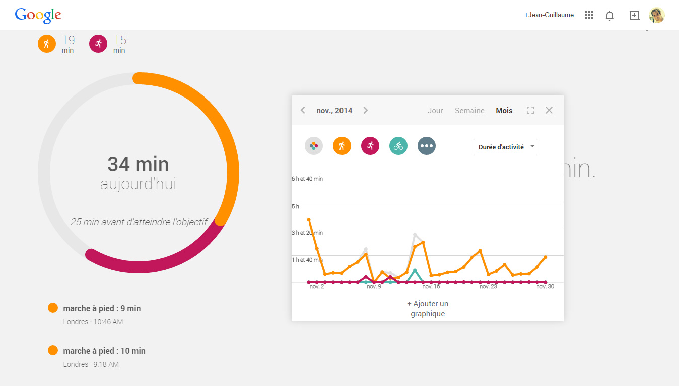 Google Fit version web