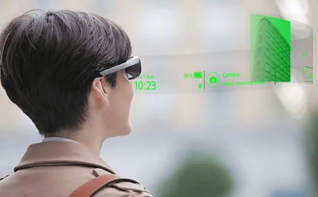 Lunettes connectées Sony SmartEyeglass Affichage