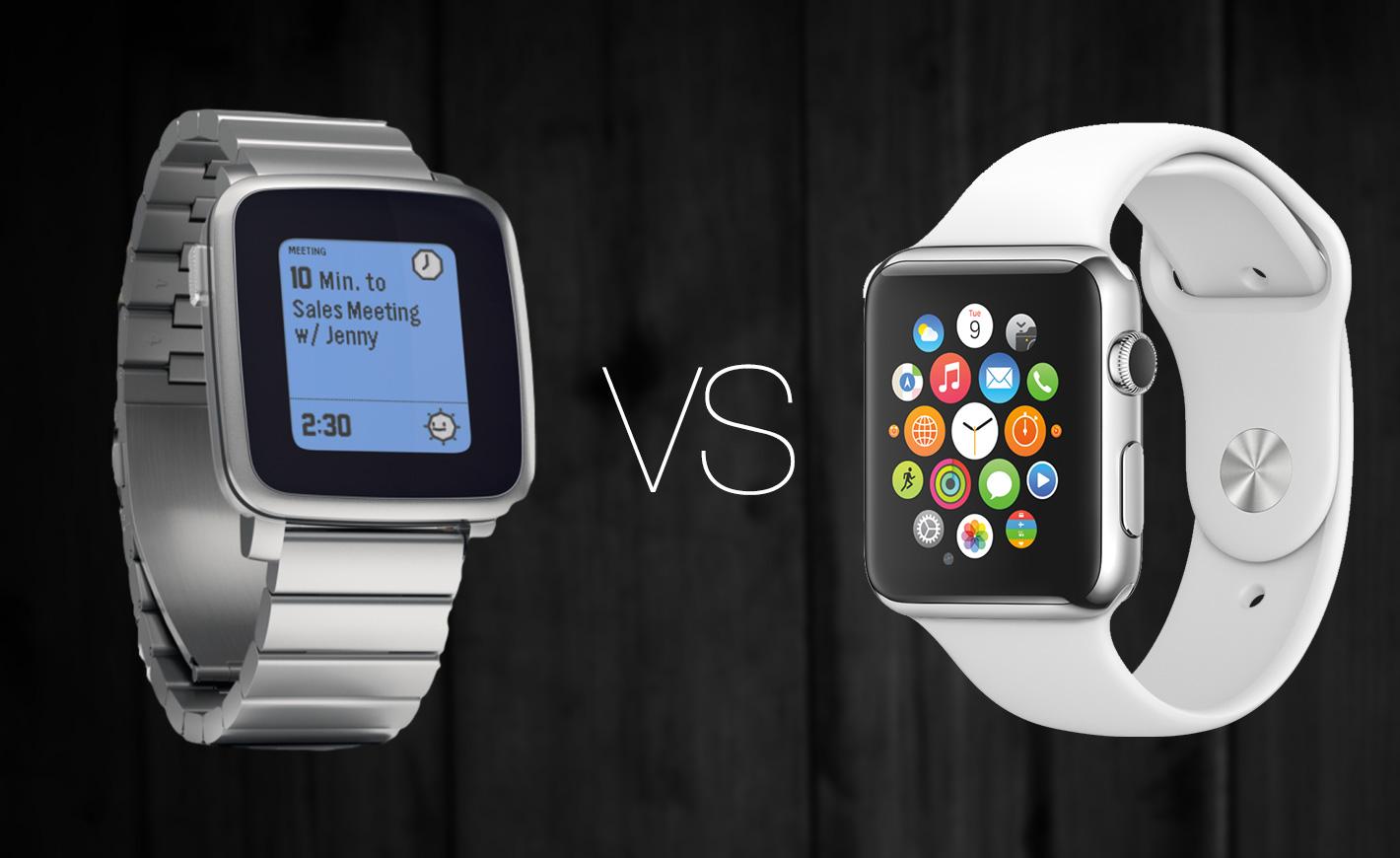 7 différences entre Pebble Time et Apple Watch