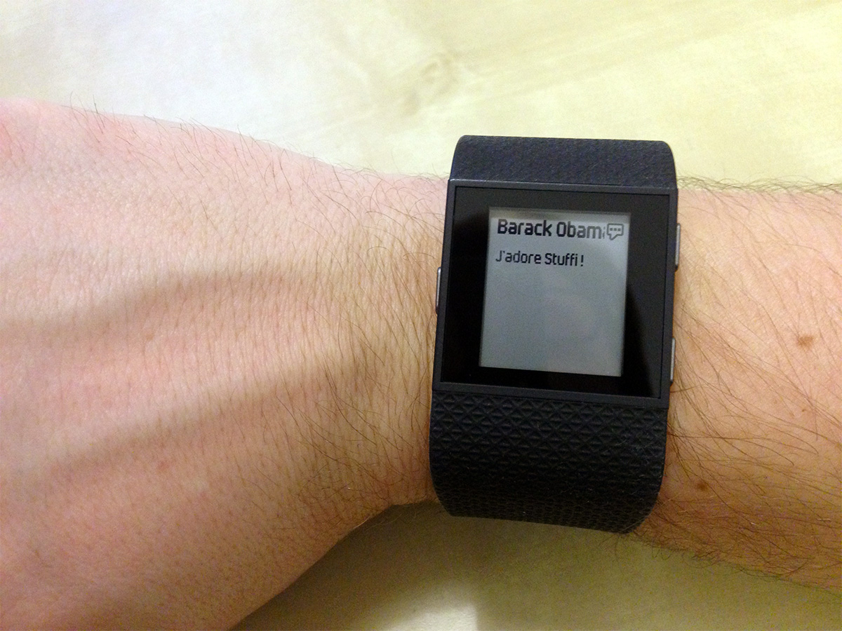 Notifications Fitbit Surge