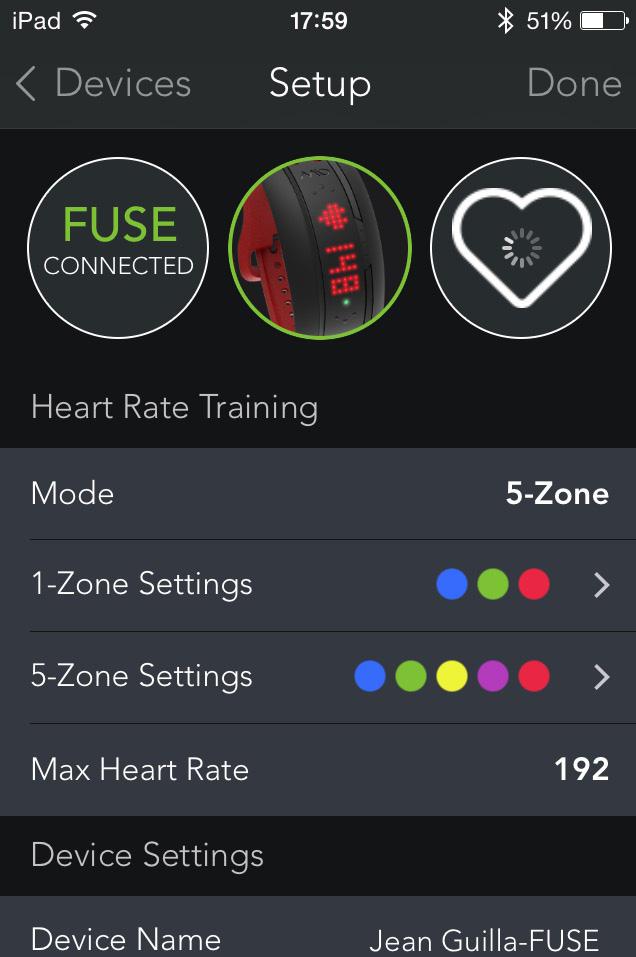 Paramétrer les zones de fréquence cardiaque