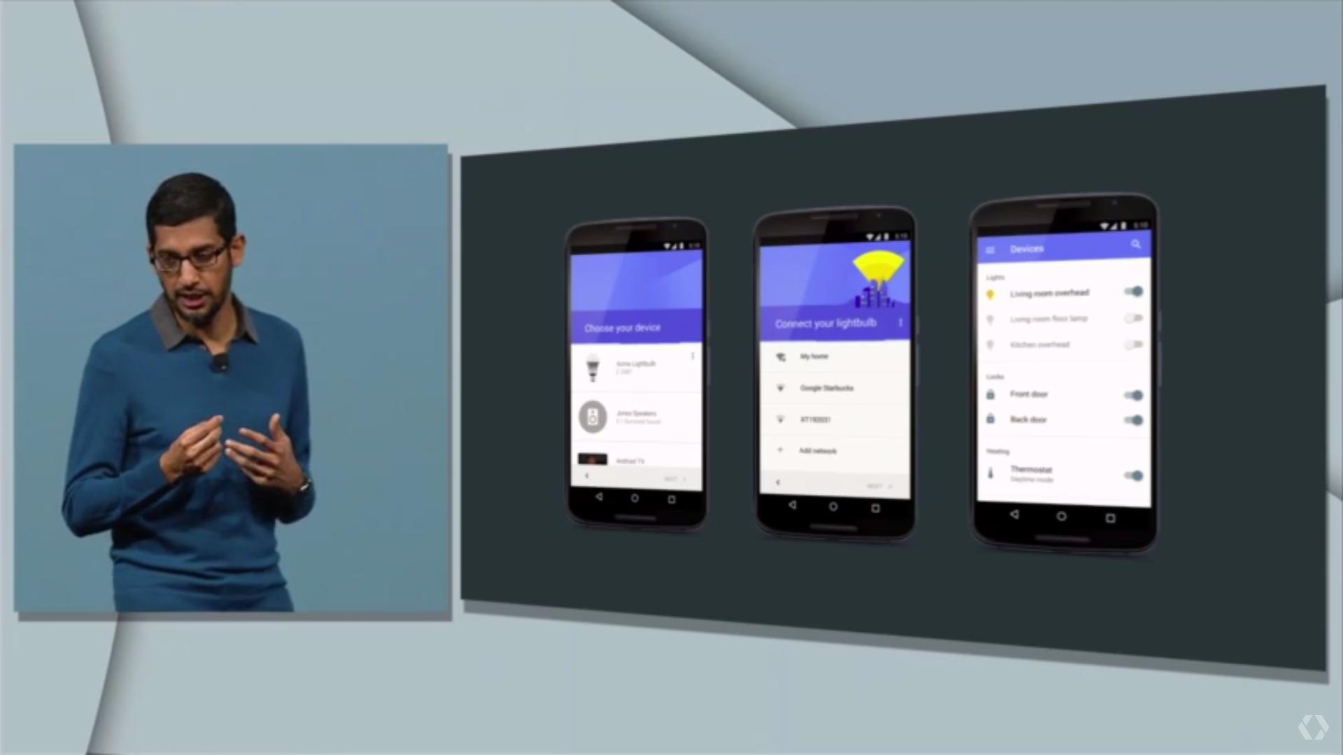 Le contrôle depuis Android