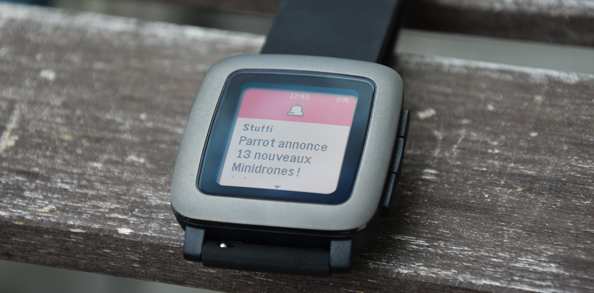 Pebble Time Notification