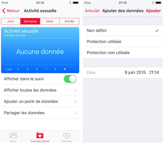 L'application Santé