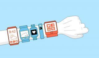 Infographie sur les bracelets et montres connectées