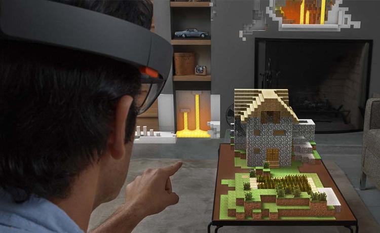 Microsoft HoloLens et Minecraft