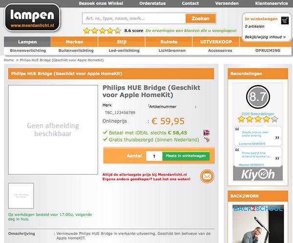 Le pont Philips Hue compatible HomeKit
