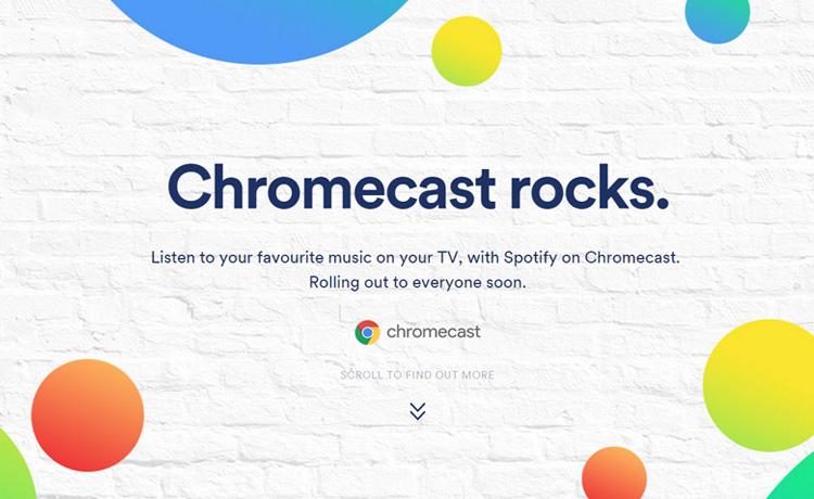 Spotify sur Chromecast