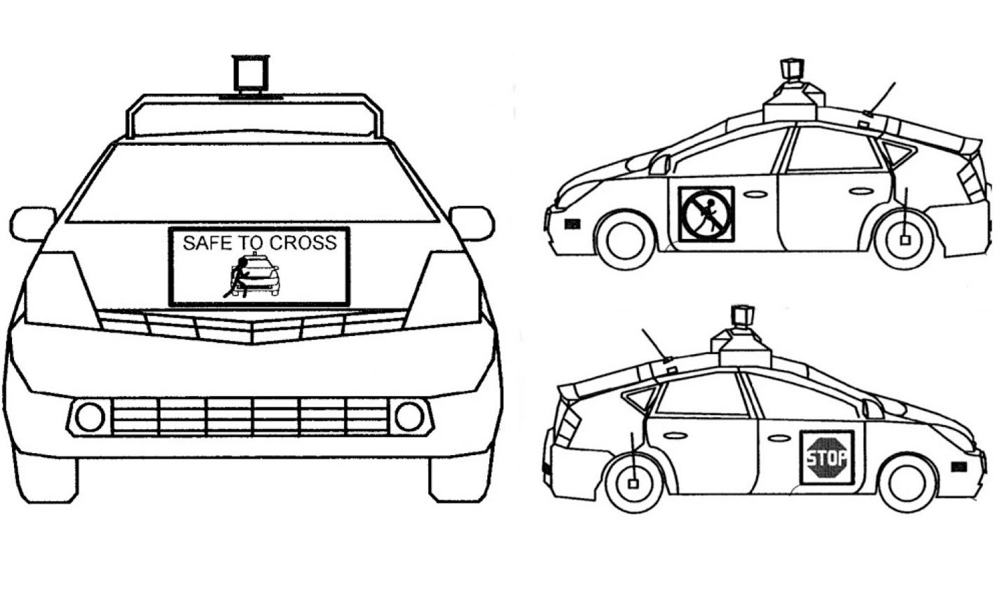 Comment la Google Car communiquera avec les piétons