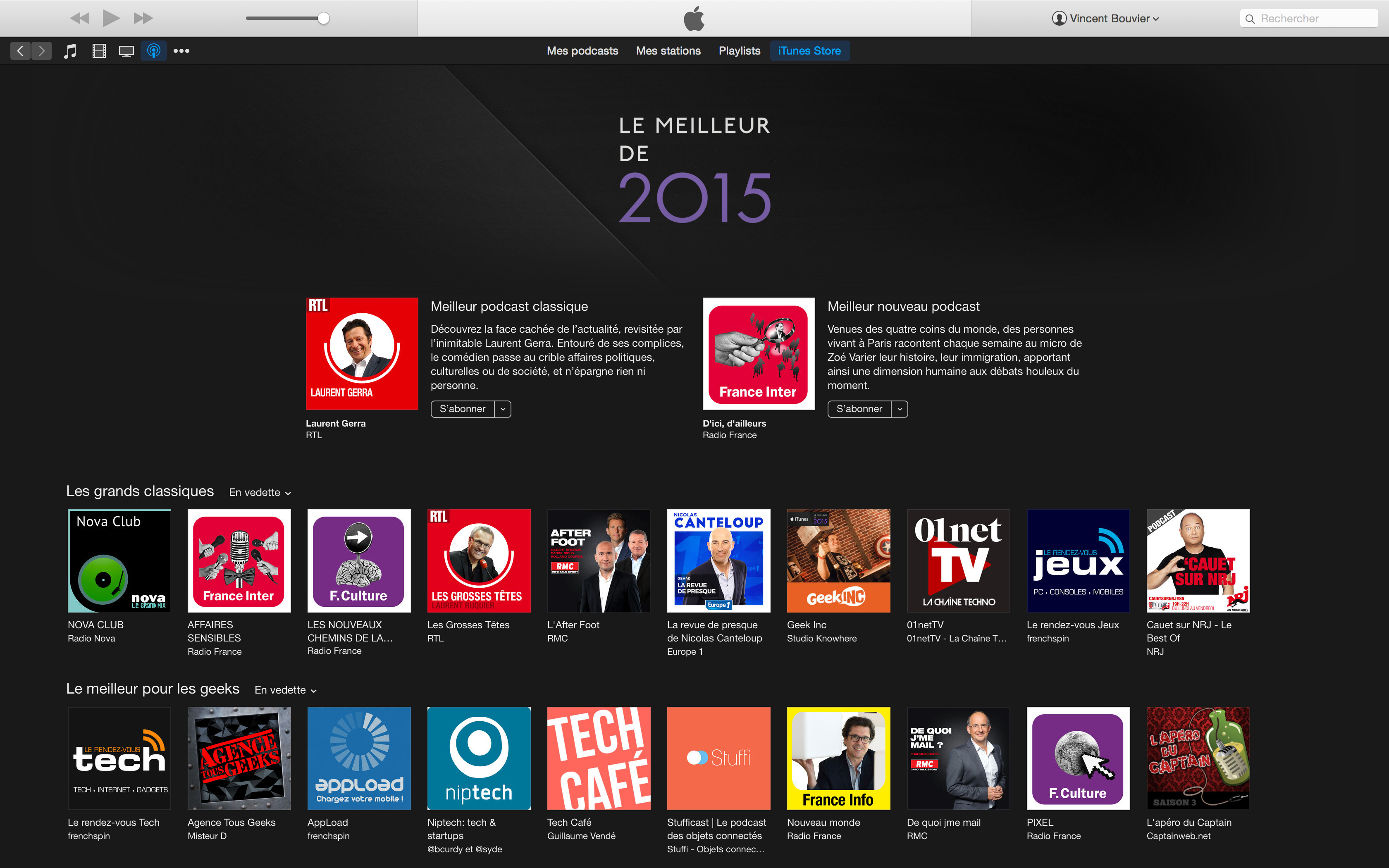 Selection itunes 2015 Stufficast