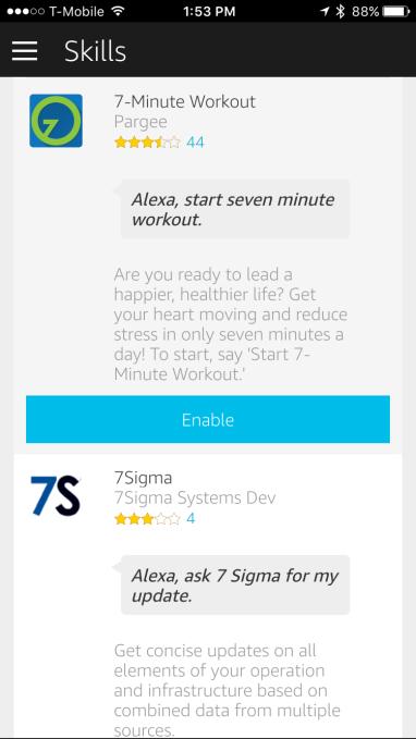 Le catalogue Alexa