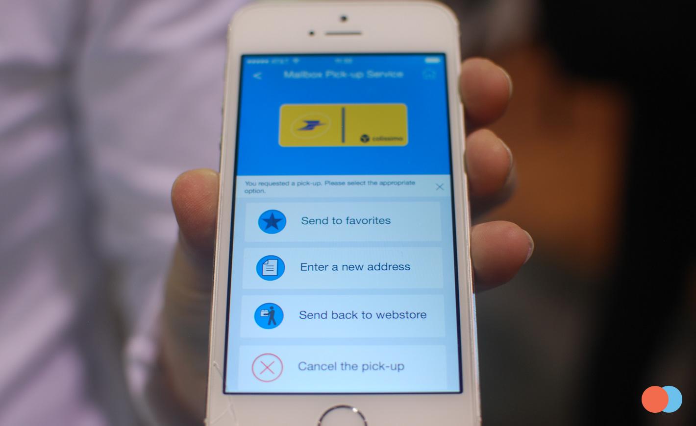 L'application mobile dédiée