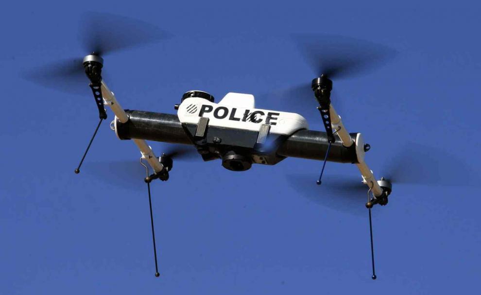 Un drone en vol