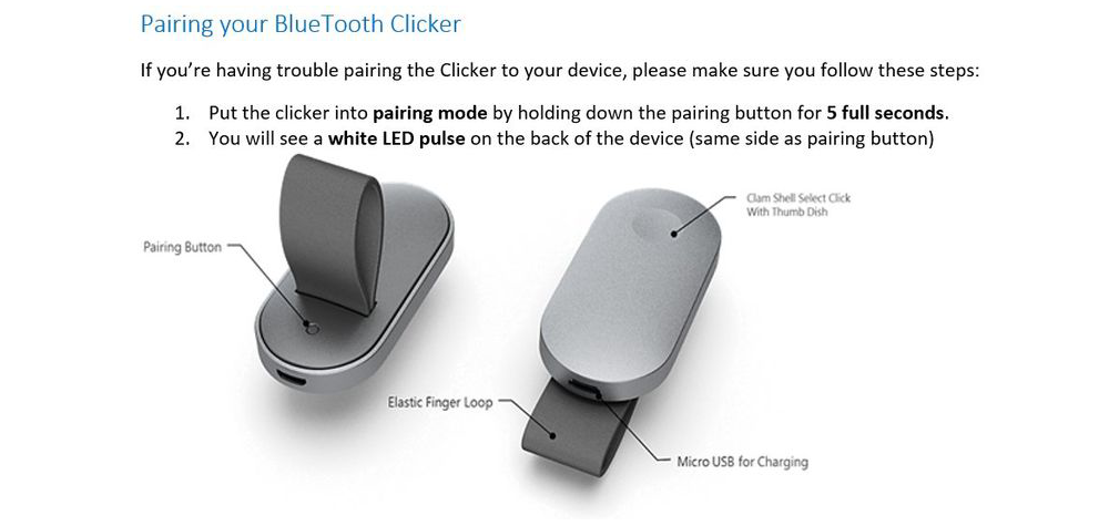 Le Bluetooth Clicker