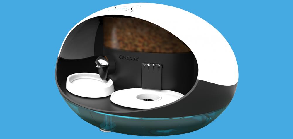 catspad la gamelle connect e pour les chats. Black Bedroom Furniture Sets. Home Design Ideas