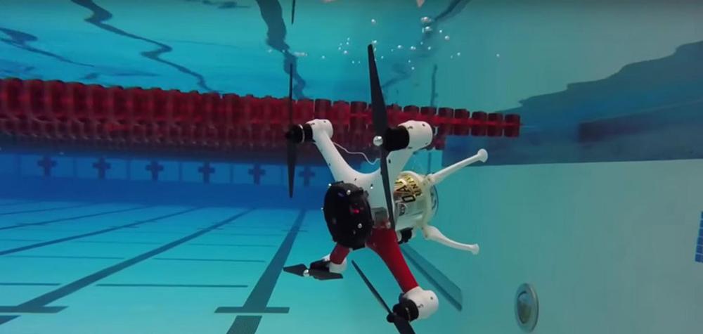 Le LoonCopter sous l'eau
