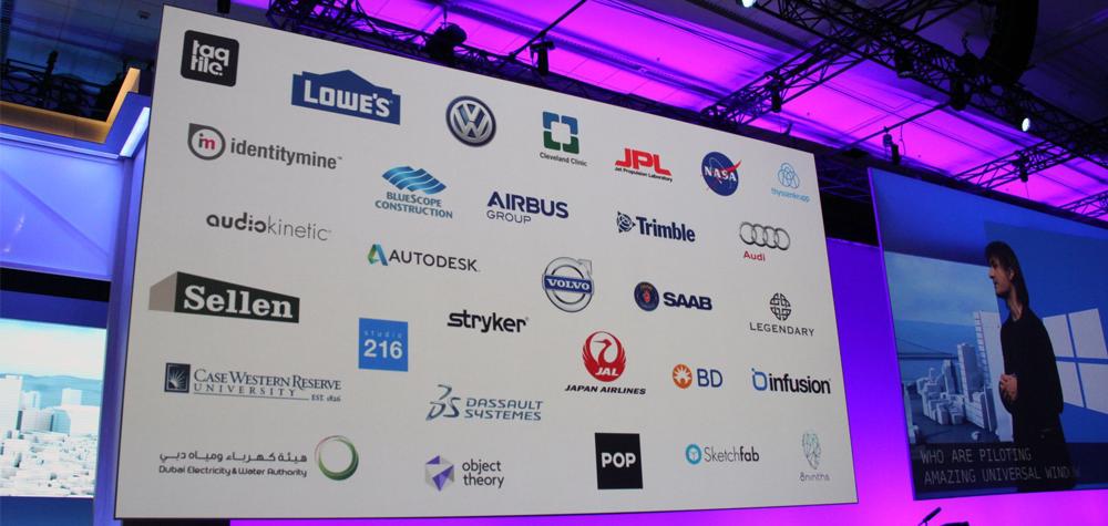 Les partenaires du HoloLens