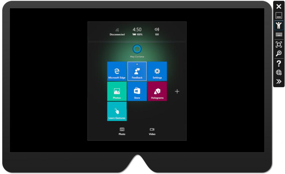 L'émulateur du HoloLens