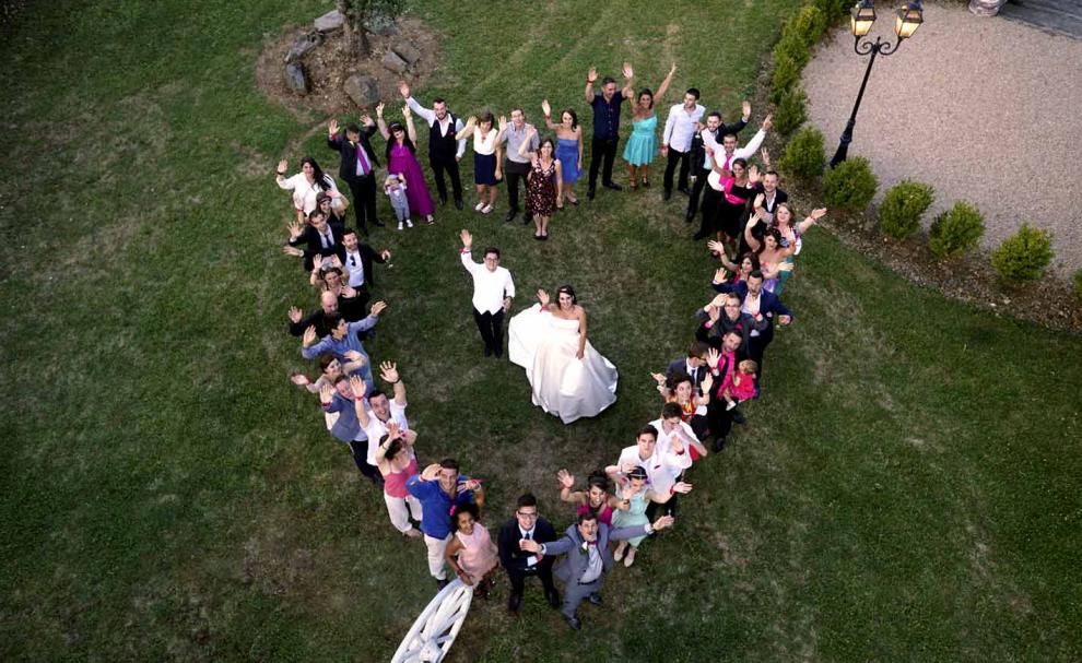 Photo de mariage par drone