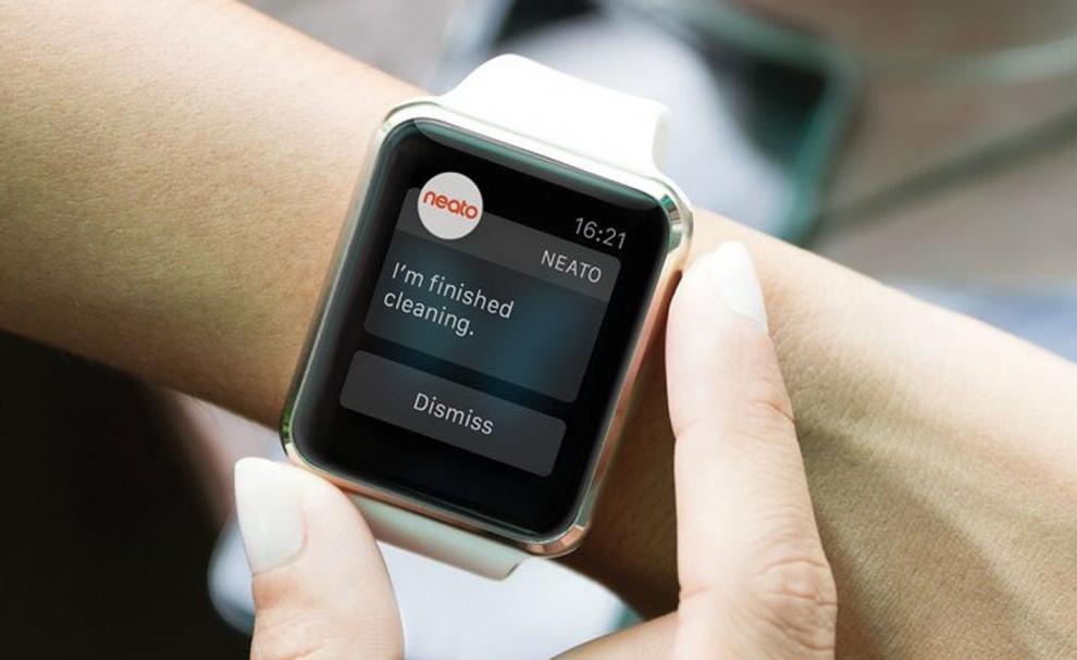 L'app Neato sur smartwatch