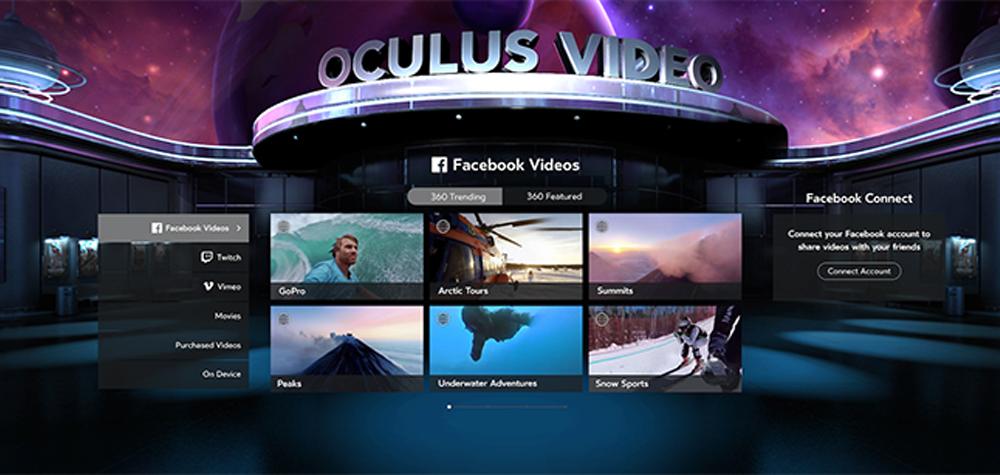 Facebook Video sur Oculus