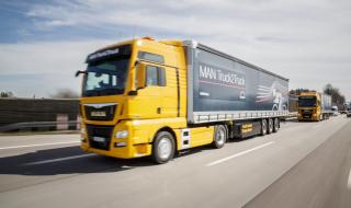Un camion autonome MAN du projet
