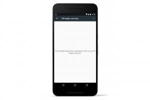 L'écran VR Helper sur Android N