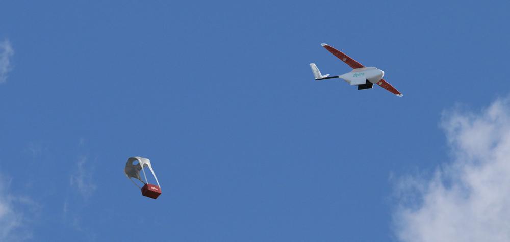 Le drone ZIP effectue une livraison