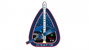 Le logo de la dernière mission de la Falcon 9
