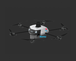 Le drone DRU de Domino's Pizza et Flirtey
