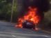 La Tesla Model S en feu