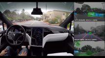 Démonstration de voiture autonome Tesla