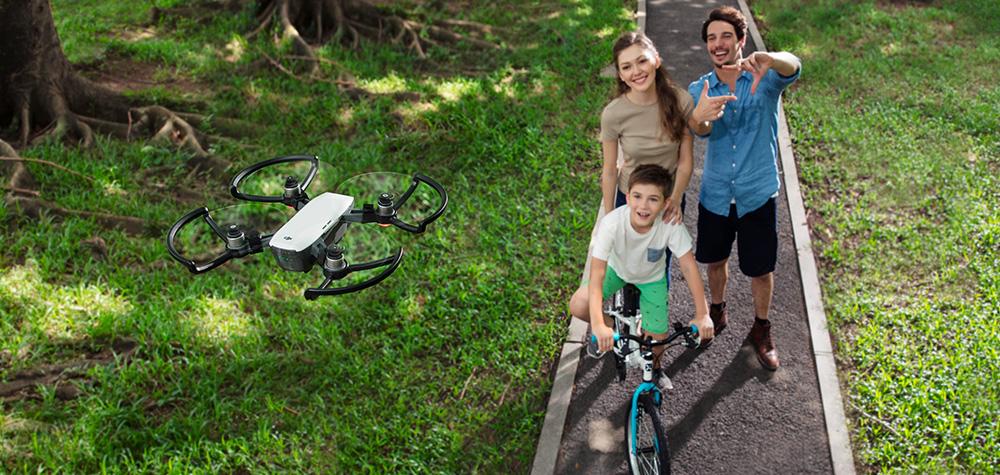 Le DJI Spark en mode Selfie