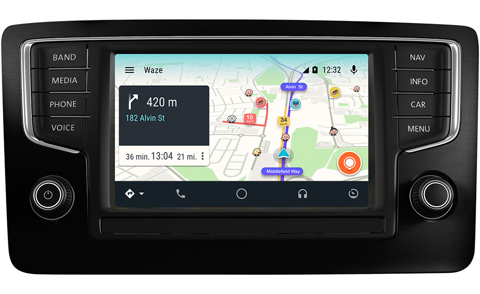 waze est enfin compatible avec android auto. Black Bedroom Furniture Sets. Home Design Ideas
