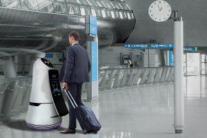 Robot Guide Aéroport LG